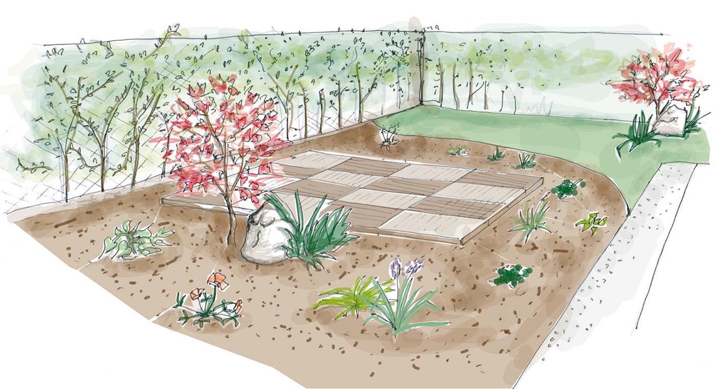 Disegno robbi 2 giardiniere modena green creations for Disegno giardini